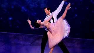 Robbie Fairchild and Leanne Cope in An American in Paris, at the Dominion Theatre, London, in 2017