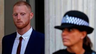 Ben Stokes at court