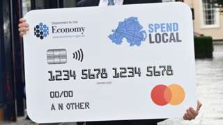 A giant version of the high street voucher