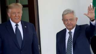 Donald Trump y López Obrador