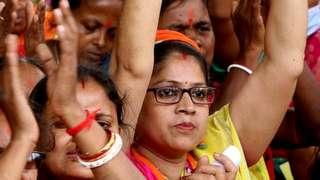 पश्चिम बंगाल में चुनावी रैली