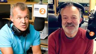 Graham Norton in 2010 and 2018