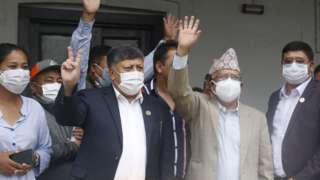माधव नेपाल र अन्य नेताहरू