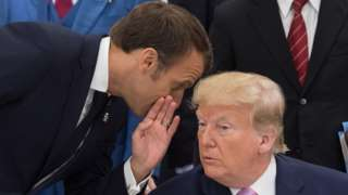 French president Emmanuel Macron and US president Donald Trump at the G20 summit
