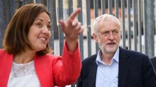 Kezia Dudgale and Jeremy Corbyn