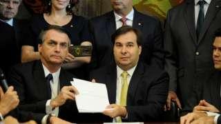 Jair Bolsonaro e Rodrigo Maia seguram
