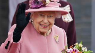 The Queen at the Senedd in Cardiff on 14 October 2021
