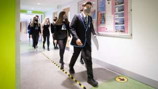 pupils in corridors