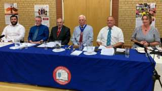 Garff candidates at public meeting