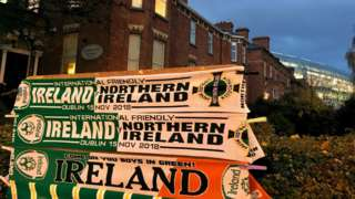 Half-and-half Ireland scarves