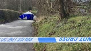 The scene on Ankerdine Road in Cotheridge, Worcestershire