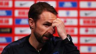 England manager Gareth Southgate at a news conference
