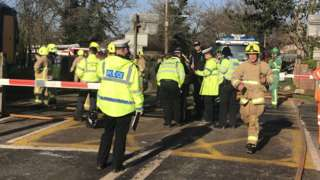 Barns Green level crossing crash