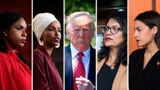 Donald Trump and the 'squad' of congresswomen