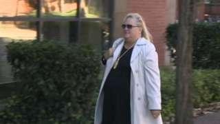 Julie Sayles arriving at court