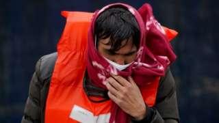 Migrant arriving in Kent