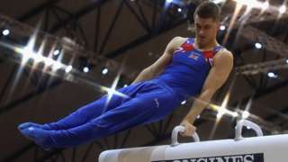 Max Whitlock on the pommel