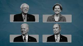Sanders, Warren, Biden and Bloomberg