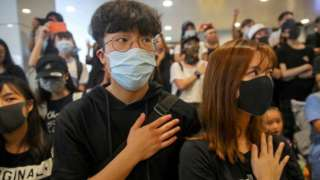 Protesters in Hong Kong, 2 October