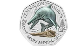 Temnodontosaurus 50p coin