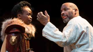 Pepter Lunkuse & Don Warrington in King Lear by Talawa and Manchester Royal Exchange