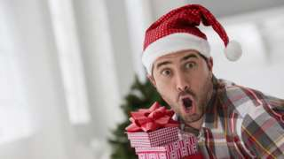 Man surprised by gift