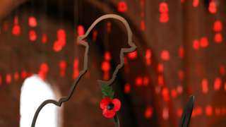 A World War One memorial in a church in Swindon, UK