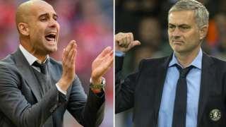 Jose Mourinho (right) and Pep Guardiola