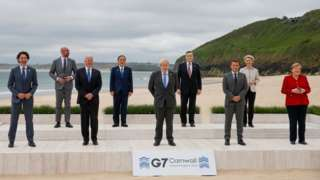 G7 leaders for dia three-day meeting for Cornwall
