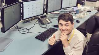 Work experience teen Eddie mans Southern Rail twitter account