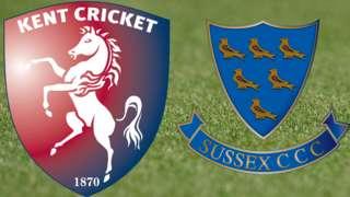 Kent v Sussex badges