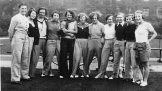 Dick Kerr Ladies players with players from top Belgium and French teams in Preston