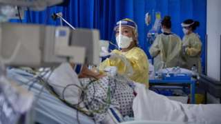 A nurse in ICU in a hospital in Tooting