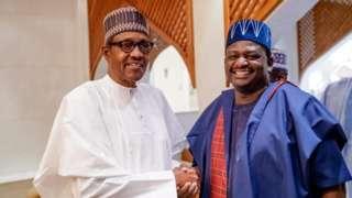 Aworan aarẹ Buhari ati Femi Adesina