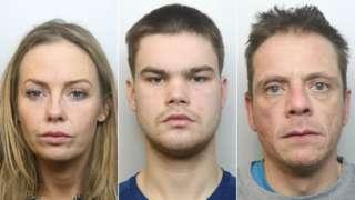 Natalie Hodson, Darren Courtney and Gareth Harrop