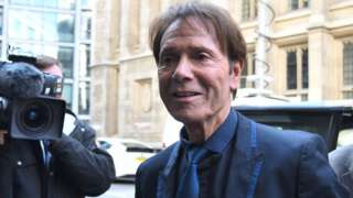 Sir Cliff Richard arriving at the High Court on 18 April 2018