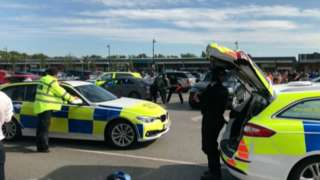 Police at the retail park