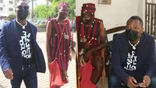 Nigeria human right activist Omoyele Sowore at court