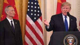 Liu He na Donald Trump