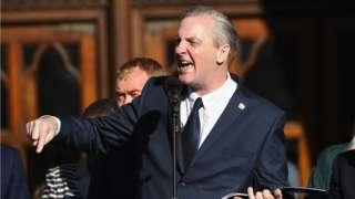 Tony Walsh at Manchester Arena vigil