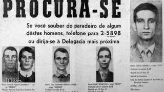 Cartaz de procurados da época