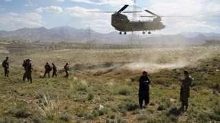 افغانستان میں امریکی ہیلی کاپٹر