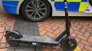 An e-scooter