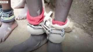 지난해 나이지리아에서 소년과 성인 남성들이 단체로 감금돼 있던 '노예 하우스'