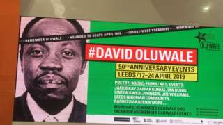 Posters around the city to commemorate the 50th anniversary of David Oluwale's death