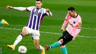 리오넬 메시의 바르셀로나 644번째 골은 레알 바야돌리드와의 경기 65분째에 터졌다