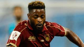 Former Cameroon international Alex Song in action for Rubin Kazan