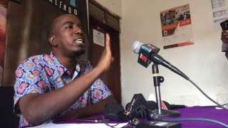 Katibu Mwenezi wa chama cha ACT Wazalendo, Ado Shaibu akizungumza na wanahabari