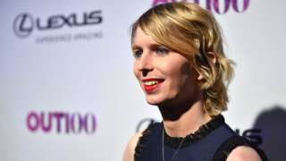 Chelsea Manning poses on red carpet of OUT Magazine event in November