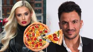 Molly-Mae, Peter Andre and a pizza